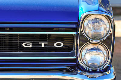 1965 Pontiac Gto Grille Emblem - Headlight Print by Jill Reger