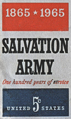 Photograph - 1965 Salvation Army Stamp by Bill Owen
