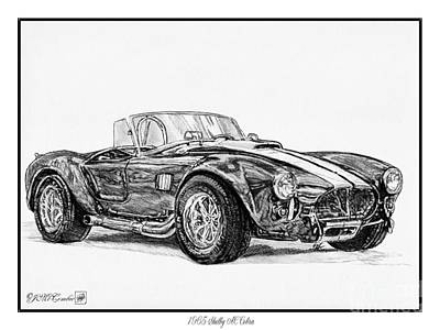 Drawing - 1965 Shelby Ac Cobra by J McCombie