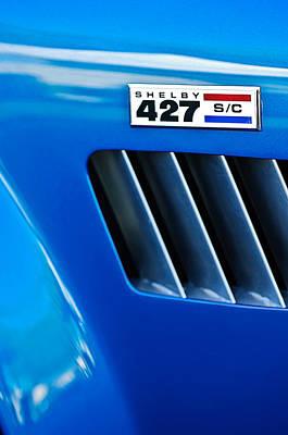 Photograph - 1965 Shelby Cobra 427 Emblem by Jill Reger