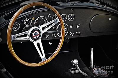 1965 Shelby Cobra Cockpit Art Print
