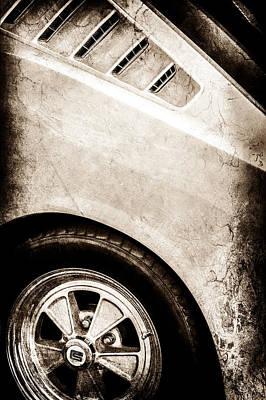 1965 Shelby Mustang Gt350 Emblem -0822s Art Print by Jill Reger