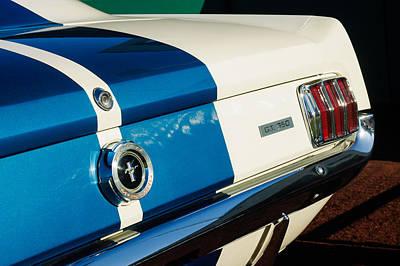 Photograph - 1965 Shelby Mustang Gt350 Taillight Emblem by Jill Reger