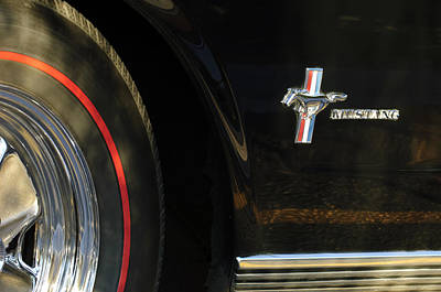 Photograph - 1965 Shelby Prototype Ford Mustang Emblem -0248c by Jill Reger