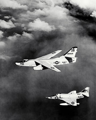 Photograph - 1965 Usn Skyhawk And Skywarrior by Historic Image