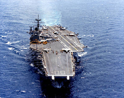 Photograph - 1965 Uss Saratoga Cv-60 by Historic Image
