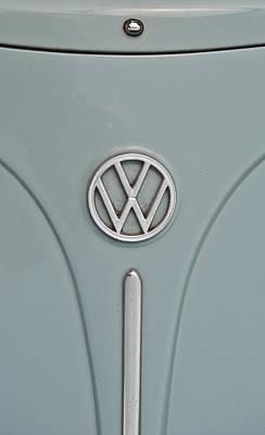 Photograph - 1965 Volkswagen Beetle Hood Emblem by Jani Freimann