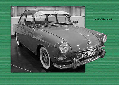 Photograph - 1965 Vw Notchback by Ron Roberts