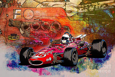 1966 9 Eagle Indy Print by Stuart Row