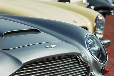 Photograph - 1966 Aston Martin Db6 Hood Emblem -1176c by Jill Reger