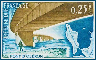 Charente Maritime Painting - 1966 Bridge Oleron by Lanjee Chee