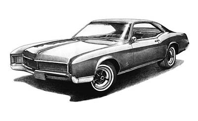 Buick Drawing - 1966 Buick Riviera by Nick Toth