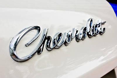 Chevrolet Biscayne Photograph - 1966 Chevrolet Biscayne Emblem -0101c by Jill Reger