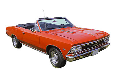 Photograph - 1966 Chevrolet Chevelle Convertible 283  by Keith Webber Jr