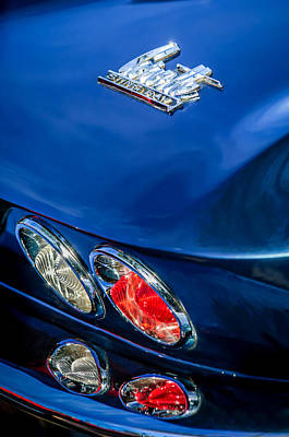 Photograph - 1966 Chevrolet Corvette Taillight Emblem -0578c by Jill Reger