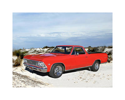 1966 Chevrolet El Camino 327 Art Print by Jack Pumphrey