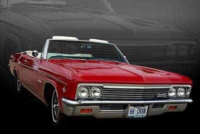 Photograph - 1966 Chevrolet Impala Convertible Ss 327 by Tim McCullough