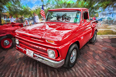 Chevy C10 Photograph - 1966 Chevy C10 Pick Up Truck Painted  by Rich Franco