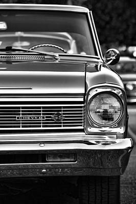 Photograph - 1966 Chevy II Ss In Black And White by Gordon Dean II