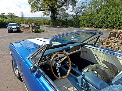 Classic Mustang Photograph - 1966 Convertible Mustang On Tour In The Cotswolds by Gill Billington