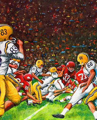 Arkansas Razorbacks Painting - 1966 Cotton Bowl Lsu Vs. Arkansas by Big 88 Artworks