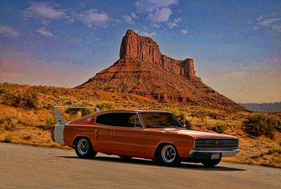 Street Rod Photograph - 1966 Dodge Charger 500 by Tim McCullough