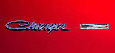 Photograph - 1966 Dodge Charger Fender Badge by Roger Mullenhour