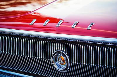 Photograph - 1966 Dodge Charger Grille Emblem by Jill Reger