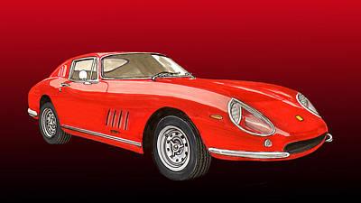 Fast Painting - 1966 Ferrari 275 G T S Alloy by Jack Pumphrey