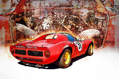 Photograph - 1966 Ferrari Sp206 Replica Rear View by Stuart Row