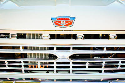 Ford Pickup Photograph - 1966 Ford F100 Pickup Truck Grille Emblem by Jill Reger