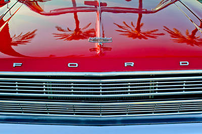 Convertible Photograph - 1966 Ford Galaxie 500 Convertible Grille by Jill Reger