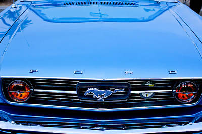 Photograph - 1966 Ford Mustang Front End by Jill Reger