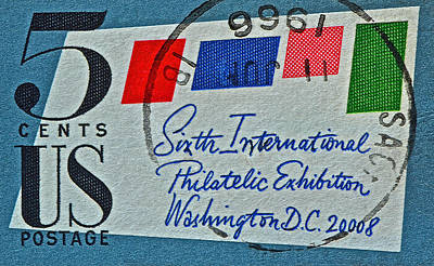 Photograph - 1966 International Philatelic Exhibition Stamp by Bill Owen