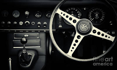 Photograph - 1966 Jaguar E Type Interior  by Tim Gainey