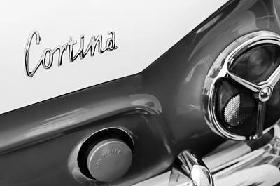 Photograph - 1966 Lotus Cortina Mk1 Taillight Emblem by Jill Reger