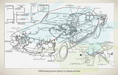 1966 Mustang Exterior Lighting Turn Signals And Horns Original