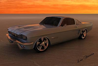 Digital Art - 1966 Mustang Fastback by Louis Ferreira