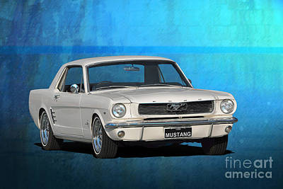 Photograph - 1966 Mustang by Stuart Row