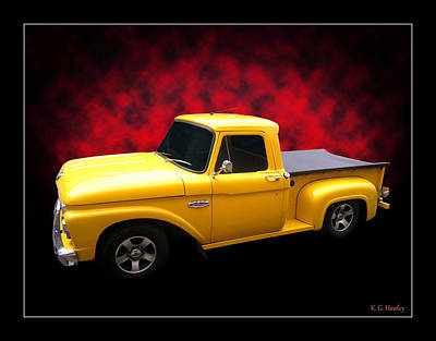 Print featuring the photograph 1966 Pickup by Keith Hawley