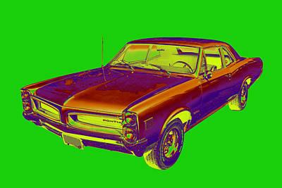 Photograph - 1966 Pointiac Lemans Car Pop Art by Keith Webber Jr