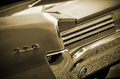 Digital Art - 1966 Pontiac Gto Tail In Sepia by Gordon Dean II