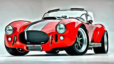 Painting - 1966 Shelby Cobra 427 by Florian Rodarte