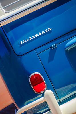 Photograph - 1966 Volkswagen Vw 21-window Deluxe Micro Bus -0553c by Jill Reger