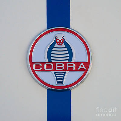 Photograph - 1967 Ac Cobra Logo by Mark Dodd