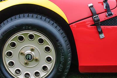 Photograph - 1967 Alfa Romeo Tz2 Zagato Coupe Wheel Emblem by Jill Reger