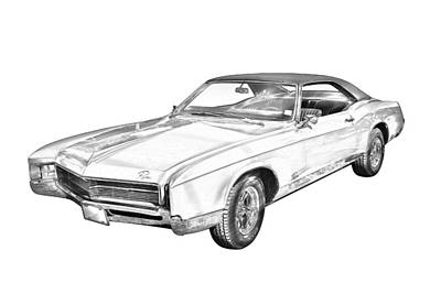 Photograph - 1967 Buick Riviera Drawing by Keith Webber Jr