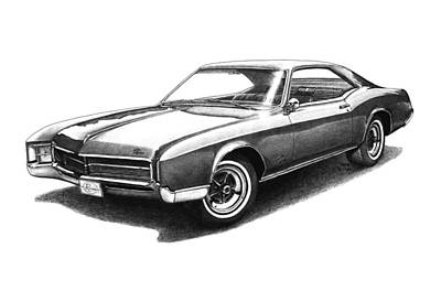 Buick Drawing - 1967 Buick Riviera by Nick Toth