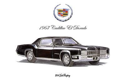Painting - 1967 Cadillac El Dorado by Jack Pumphrey