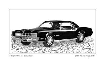 1967 Cadillac Eldorado Art Print by Jack Pumphrey